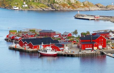 Norway village in sea, Lofoten photo