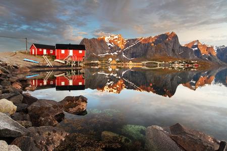 fishing cabin: View over Reine village, Norway