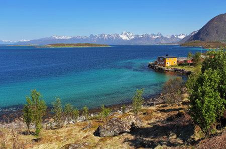 fishing huts: Coast of Lofoten islands, Norway