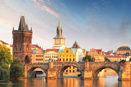 Charles bridge in Prague, Czech republic photo