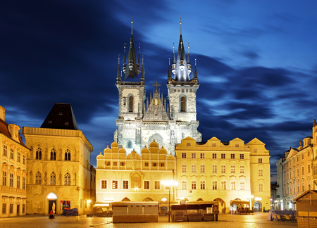Prague Old town square, Tyn Cathedral photo