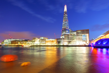 shard of glass: London skyline, UK, England