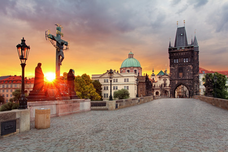 Prague View from Charles Bridge Archivio Fotografico