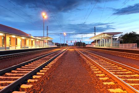 Passenger train station photo