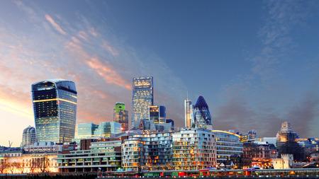 skyline at sunrise: London skyline