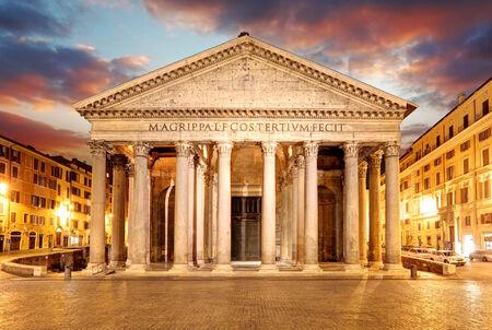 pantheon: Pantheon - Rome at sunset