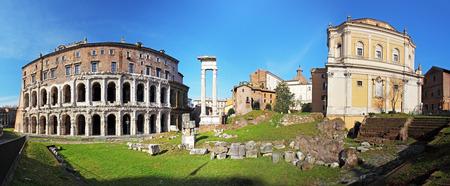 teatro antiguo: Roma - marcellus teatro, panorama