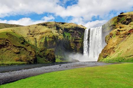 skogafoss waterfall: Iceland waterfall - Skogafoss Stock Photo