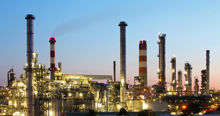 petroleum: Oil indutry refinery - factory Stock Photo