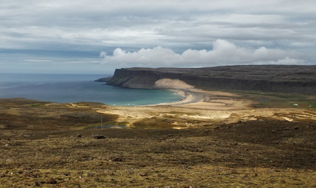 fjords: Mighty fjords rise from the sea in the Westfjords Peninsula, northwestern Iceland