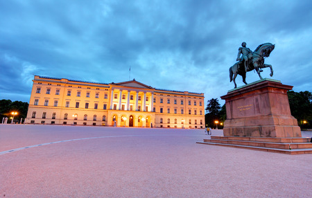 castle buildings: Royal palace in Oslo, Norway