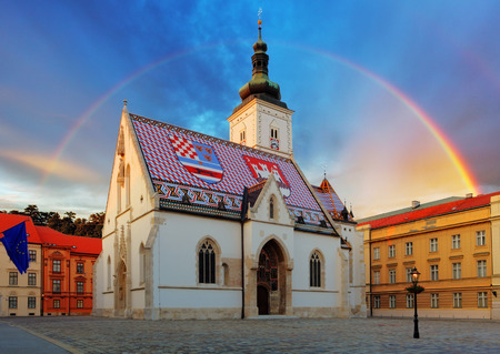Zagreb church - St Mark photo