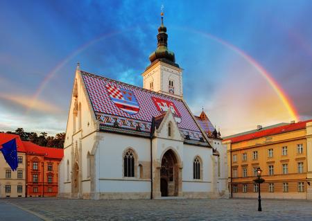 st mark's square: Zagreb church - St Mark