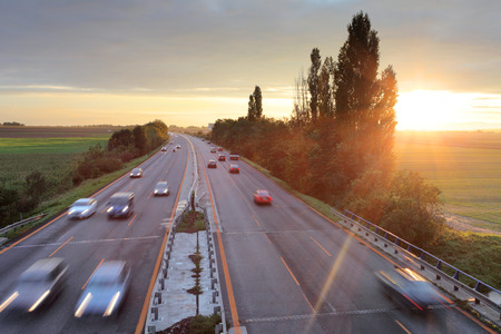 Higway road with cars photo