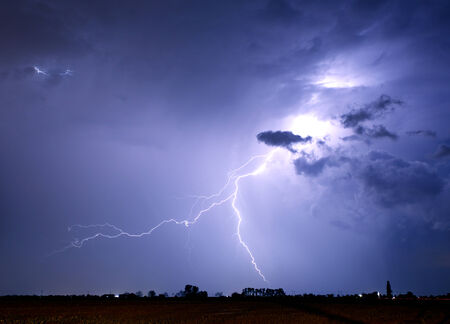 zeus: Lightning bolt and storm Stock Photo