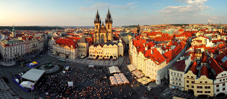Prague square - Panorama of Old Town photo