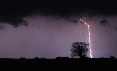 Bliksemschicht en storm