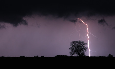 Lightning bolt and storm photo