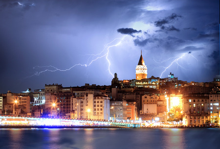 Istanbul, Turkey with storm photo