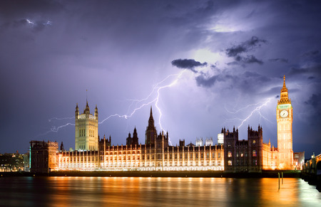 London during storm Stock Photo