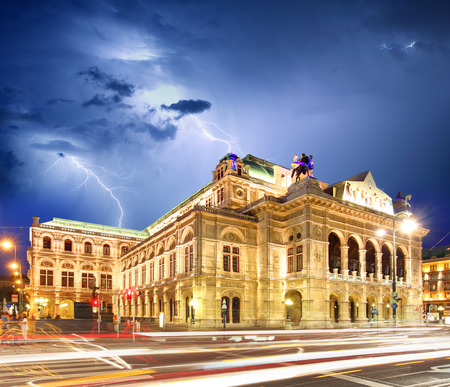 Vienna state opera at storm
