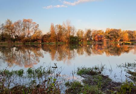 watermill: Watermill in river Small Danube - Slovakia, Jelka