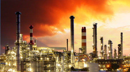 gas supply: Oil Industry - Gas Refinery Stock Photo