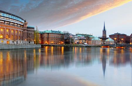 parliament: Stockholm, Sweden. Riksdag (parliament) building. Stock Photo