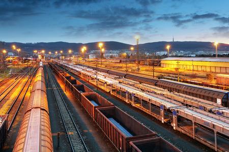 estacion tren: Los trenes de carga - transporte de cargas
