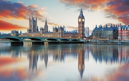 tower house: London - Big ben and houses of parliament, UK