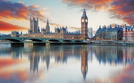 Londyn - Big Ben i Houses of Parliament, UK Publikacyjne