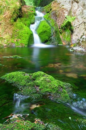 Green Waterfall cascade stream photo