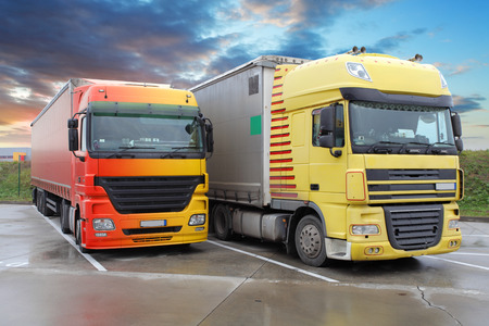 delivery truck: Trucks Stock Photo
