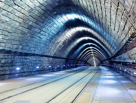 light at the end of the tunnel: Railroad tunnel