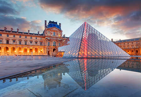 Paris, France - February 9, 2015: The Louvre Museum is one of the world