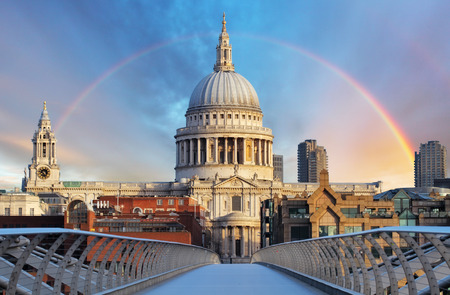 saint pauls cathedral: London - Cathedral St. Paiul, UK Stock Photo
