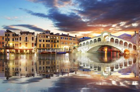 Venetië, Rialtobrug. Italië. Stockfoto