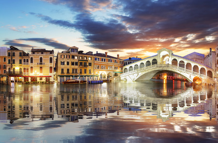 rialto: Venice, Rialto Bridge. Italy.