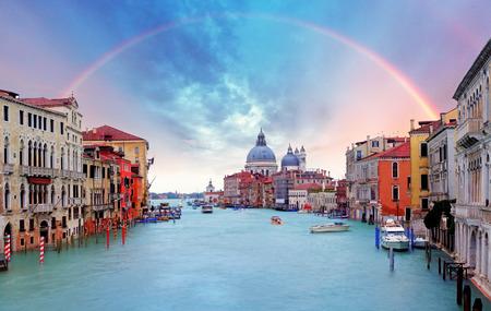 sea scene: Venice - Rainbow over Grand Canal