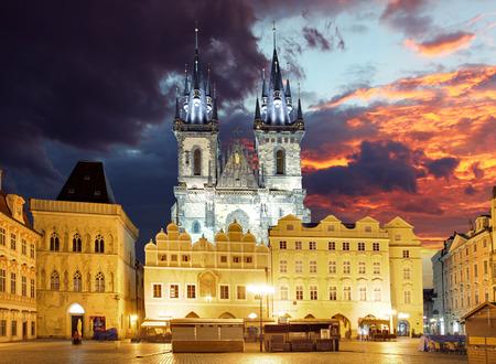 Prague square - Old town, Czech republic photo