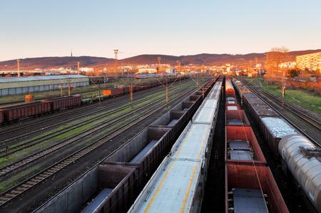 freight train: Train Freight transportation platform - Cargo transit