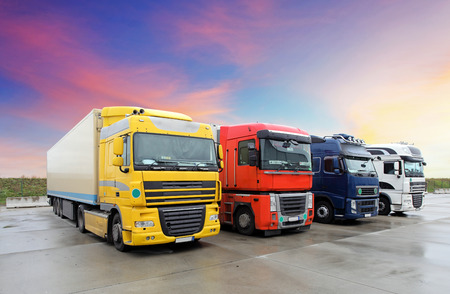 shipment: Truck, transportation Stock Photo