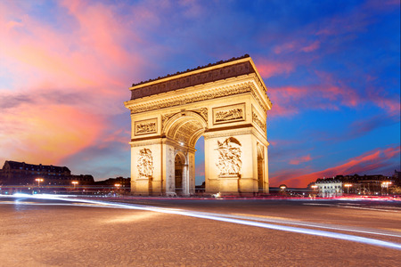 Arc de Triomphe: Paris, Arc de Triumph, France Stock Photo