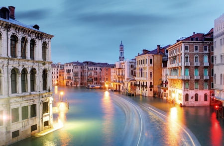 rialto bridge: Venice - Grand canal from Rialto bridge Stock Photo