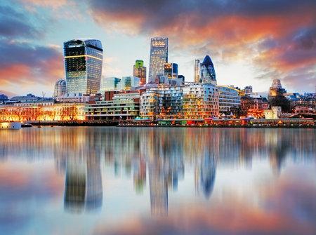 Londen skyline Stockfoto - 38764653