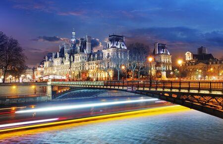 View of Hotel de Ville (municipio) di Parigi, Francia
