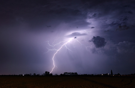 lightning storm: Lightning bolts and storm