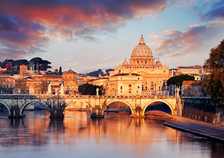 Vatican city with St. Peter Stock Photo