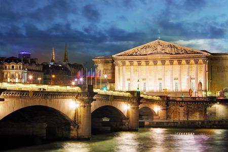 bourbon street: Palais Bourbon - French Parliament, Paris, Assemblee Nationale Stock Photo