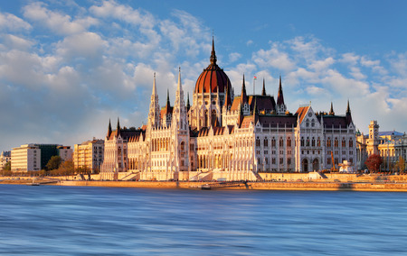 Parlement van Boedapest Hongarije Stockfoto